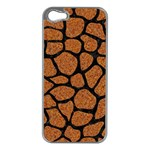 SKIN1 BLACK MARBLE & RUSTED METAL (R) Apple iPhone 5 Case (Silver) Front