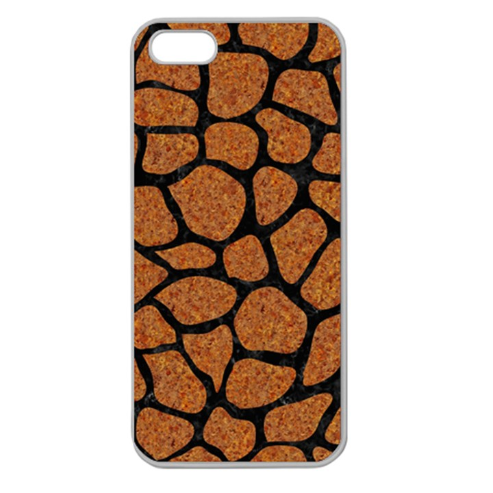 SKIN1 BLACK MARBLE & RUSTED METAL (R) Apple Seamless iPhone 5 Case (Clear)