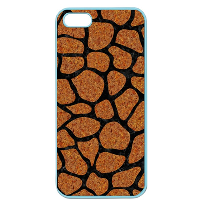 SKIN1 BLACK MARBLE & RUSTED METAL (R) Apple Seamless iPhone 5 Case (Color)