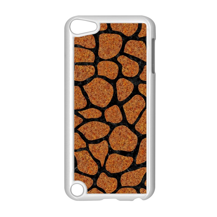 SKIN1 BLACK MARBLE & RUSTED METAL (R) Apple iPod Touch 5 Case (White)