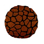 SKIN1 BLACK MARBLE & RUSTED METAL (R) Standard 15  Premium Round Cushions Front