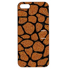 Skin1 Black Marble & Rusted Metal (r) Apple Iphone 5 Hardshell Case With Stand
