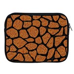 SKIN1 BLACK MARBLE & RUSTED METAL (R) Apple iPad 2/3/4 Zipper Cases Front