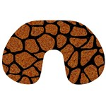 SKIN1 BLACK MARBLE & RUSTED METAL (R) Travel Neck Pillows Front