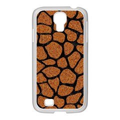 Skin1 Black Marble & Rusted Metal (r) Samsung Galaxy S4 I9500/ I9505 Case (white)