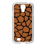 SKIN1 BLACK MARBLE & RUSTED METAL (R) Samsung GALAXY S4 I9500/ I9505 Case (White) Front