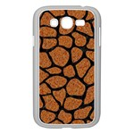 SKIN1 BLACK MARBLE & RUSTED METAL (R) Samsung Galaxy Grand DUOS I9082 Case (White) Front