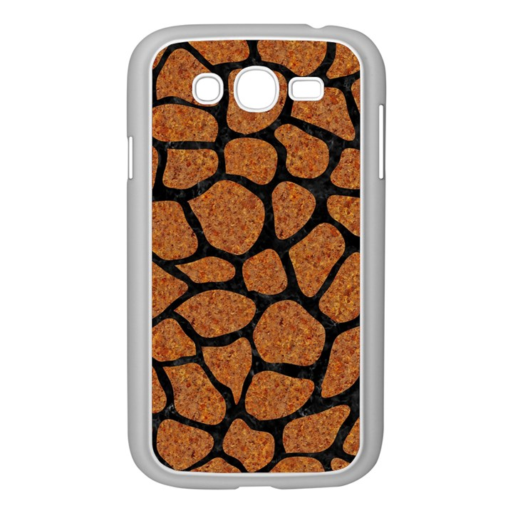 SKIN1 BLACK MARBLE & RUSTED METAL (R) Samsung Galaxy Grand DUOS I9082 Case (White)