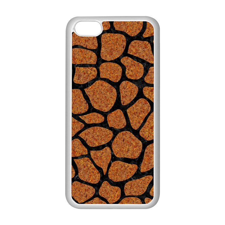 SKIN1 BLACK MARBLE & RUSTED METAL (R) Apple iPhone 5C Seamless Case (White)