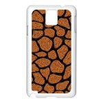 SKIN1 BLACK MARBLE & RUSTED METAL (R) Samsung Galaxy Note 3 N9005 Case (White) Front