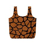SKIN1 BLACK MARBLE & RUSTED METAL (R) Full Print Recycle Bags (S)  Back