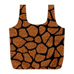 SKIN1 BLACK MARBLE & RUSTED METAL (R) Full Print Recycle Bags (L)  Front