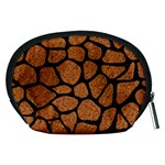 SKIN1 BLACK MARBLE & RUSTED METAL (R) Accessory Pouches (Medium)  Back
