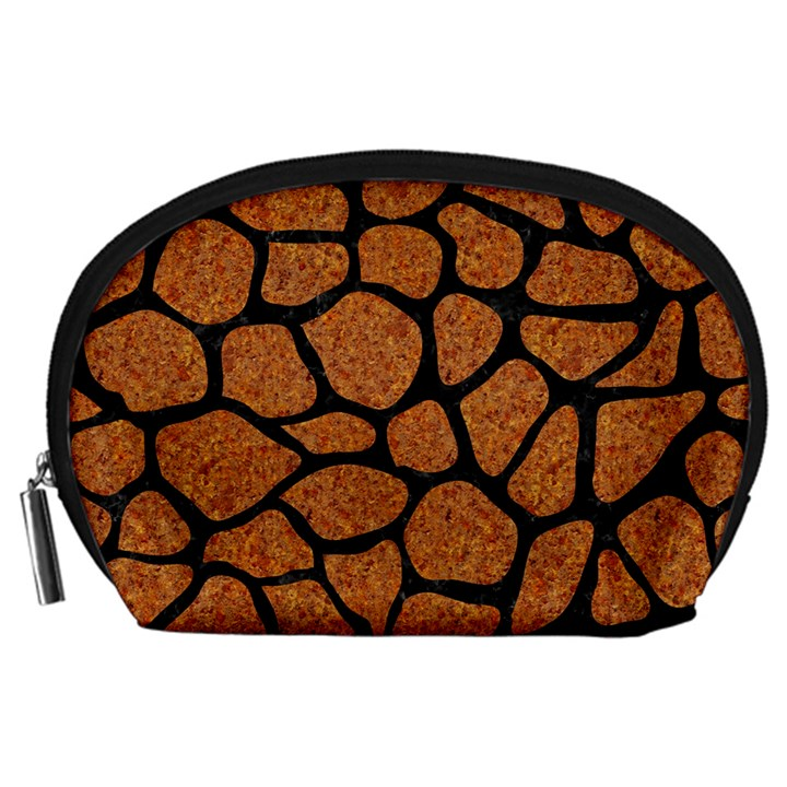 SKIN1 BLACK MARBLE & RUSTED METAL (R) Accessory Pouches (Large)