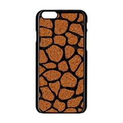 Skin1 Black Marble & Rusted Metal (r) Apple Iphone 6/6s Black Enamel Case