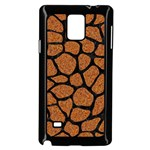 SKIN1 BLACK MARBLE & RUSTED METAL (R) Samsung Galaxy Note 4 Case (Black) Front