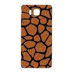 SKIN1 BLACK MARBLE & RUSTED METAL (R) Samsung Galaxy Alpha Hardshell Back Case Front