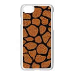 SKIN1 BLACK MARBLE & RUSTED METAL (R) Apple iPhone 7 Seamless Case (White) Front