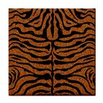 SKIN2 BLACK MARBLE & RUSTED METAL Tile Coasters Front