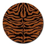 SKIN2 BLACK MARBLE & RUSTED METAL Round Mousepads Front