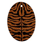 SKIN2 BLACK MARBLE & RUSTED METAL Ornament (Oval) Front