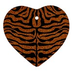 SKIN2 BLACK MARBLE & RUSTED METAL Ornament (Heart) Front