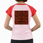 SKIN2 BLACK MARBLE & RUSTED METAL Women s Cap Sleeve T-Shirt Back
