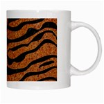 SKIN2 BLACK MARBLE & RUSTED METAL White Mugs Right