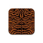 SKIN2 BLACK MARBLE & RUSTED METAL Rubber Square Coaster (4 pack)  Front