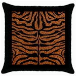 SKIN2 BLACK MARBLE & RUSTED METAL Throw Pillow Case (Black) Front