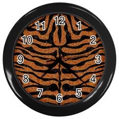 Skin2 Black Marble & Rusted Metal Wall Clocks (black)