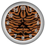 SKIN2 BLACK MARBLE & RUSTED METAL Wall Clocks (Silver)  Front