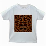 SKIN2 BLACK MARBLE & RUSTED METAL Kids White T-Shirts Front