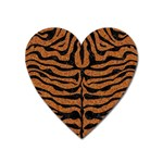 SKIN2 BLACK MARBLE & RUSTED METAL Heart Magnet Front