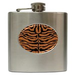 SKIN2 BLACK MARBLE & RUSTED METAL Hip Flask (6 oz) Front