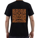 SKIN2 BLACK MARBLE & RUSTED METAL Men s T-Shirt (Black) (Two Sided) Back