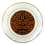 SKIN2 BLACK MARBLE & RUSTED METAL Porcelain Plates Front