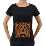 SKIN2 BLACK MARBLE & RUSTED METAL Women s Loose-Fit T-Shirt (Black) Front