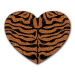 SKIN2 BLACK MARBLE & RUSTED METAL Heart Mousepads Front