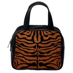 SKIN2 BLACK MARBLE & RUSTED METAL Classic Handbags (One Side) Front
