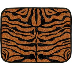 Skin2 Black Marble & Rusted Metal Fleece Blanket (mini)