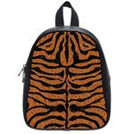 SKIN2 BLACK MARBLE & RUSTED METAL School Bag (Small) Front