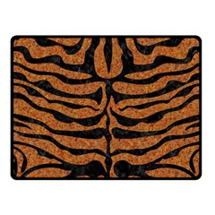 Skin2 Black Marble & Rusted Metal Fleece Blanket (small)