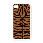 SKIN2 BLACK MARBLE & RUSTED METAL Apple iPhone 4 Case (White) Front