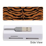 SKIN2 BLACK MARBLE & RUSTED METAL Memory Card Reader (Stick)  Front