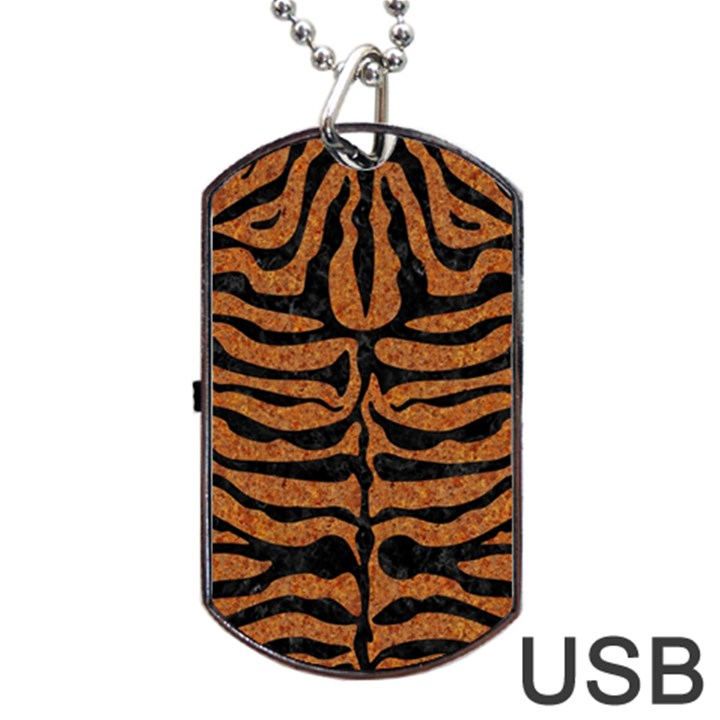 SKIN2 BLACK MARBLE & RUSTED METAL Dog Tag USB Flash (One Side)