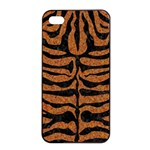 SKIN2 BLACK MARBLE & RUSTED METAL Apple iPhone 4/4s Seamless Case (Black) Front