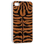 SKIN2 BLACK MARBLE & RUSTED METAL Apple iPhone 4/4s Seamless Case (White) Front
