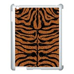 SKIN2 BLACK MARBLE & RUSTED METAL Apple iPad 3/4 Case (White) Front
