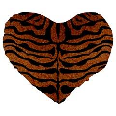 Skin2 Black Marble & Rusted Metal Large 19  Premium Heart Shape Cushions